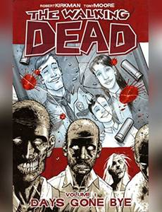 Couverture du premier album de la série Walking Dead - English