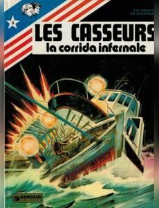 Couverture de l'album La Corrida infernale : Une histoire du journal Tintin (Les Casseurs)