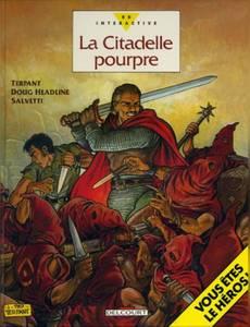 Couverture du premier album de la série La Citadelle Pourpre