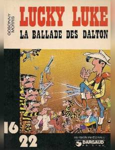 Couverture du premier album de la série Lucky Luke (Dargaud)