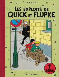 Couverture du premier album de la série Les exploits de Quick et Flupke