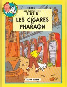 Couverture de l'album Les cigares du pharaon Suivi de Le Lotus bleu (Les aventures de Tintin)