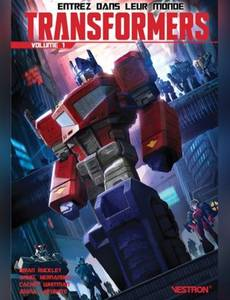 Couverture du premier album de la série Transformers (Vestron- 2020)