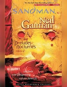 Couverture du premier album de la série Sandman (vertigo)