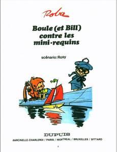 Couverture du premier album de la série Boule et Bill (Le Soir)