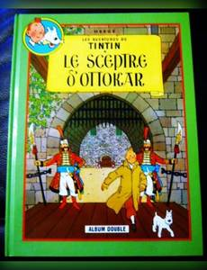 Couverture de l'album Les aventures de Tintin , album double : Le sceptre d'ottokar , l'affaire tournesol