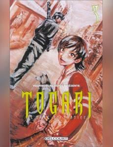 Couverture du premier album de la série Togari, l'Epée de Justice