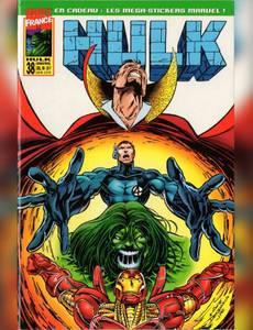 Couverture du premier album de la série Hulk - semic