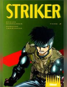 Couverture du premier album de la série Striker