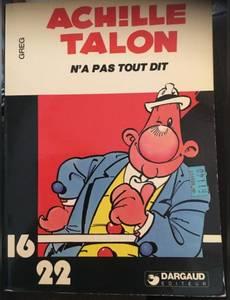 Couverture du premier album de la série Achille Talon (16/22)