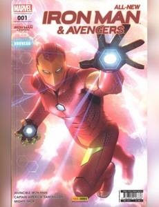 Couverture du premier album de la série All-New Iron Man & Avengers