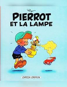 Couverture du premier album de la série Pierrot et la lampe