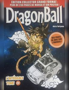 Couverture du premier album de la série Dragon Ball - L'intégrale Grand Format