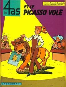 Couverture de l'album Les 4as et le Picasso Volé