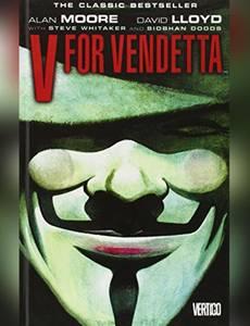 Couverture du premier album de la série V pour Vendetta